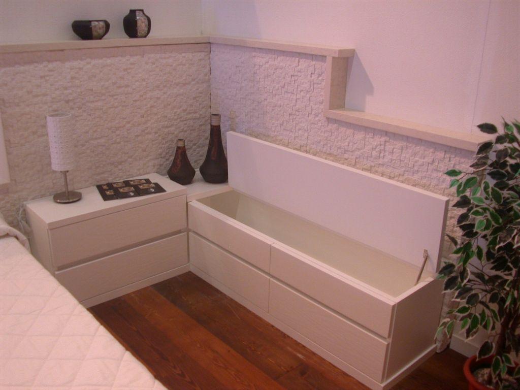 Beautiful camera da letto in muratura pictures idee for Camera da letto in stile cabina