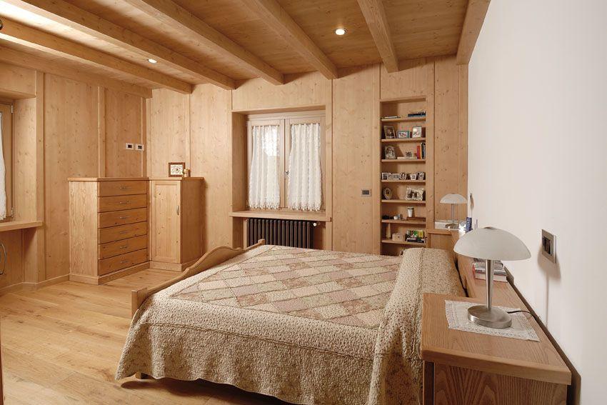 Camera da letto chalet contado roberto group cucine e - Camere da letto in legno rustico ...