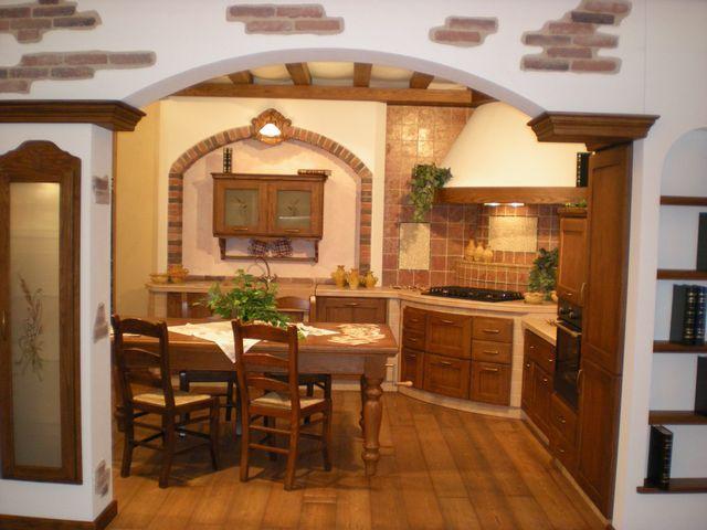 Cucina in muratura casolare contado roberto group cucine e arredamenti su misura in legno - Mobili in muratura per soggiorno ...