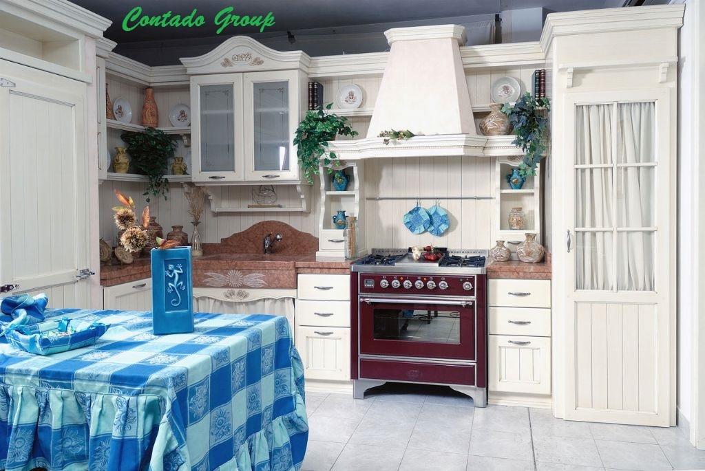 Cucina country girasole contado roberto group cucine e - Arredamento cucine country ...