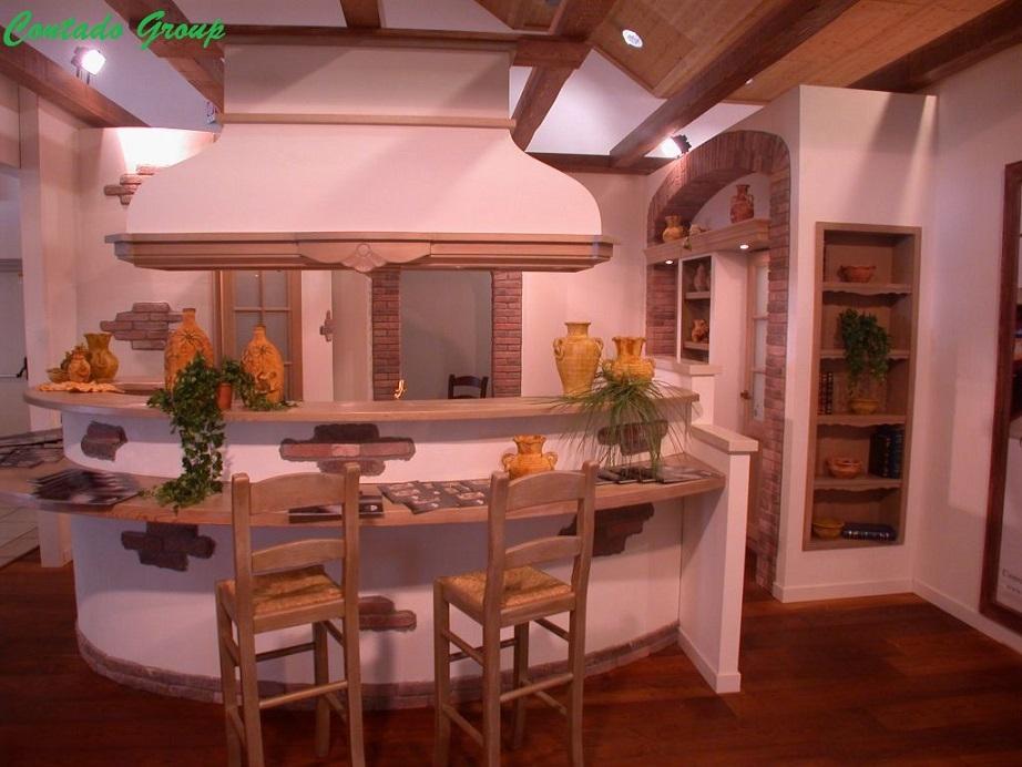 Cucina la luminosa con isola contado roberto group cucine e arredamenti su misura in legno - Cucine con l isola ...