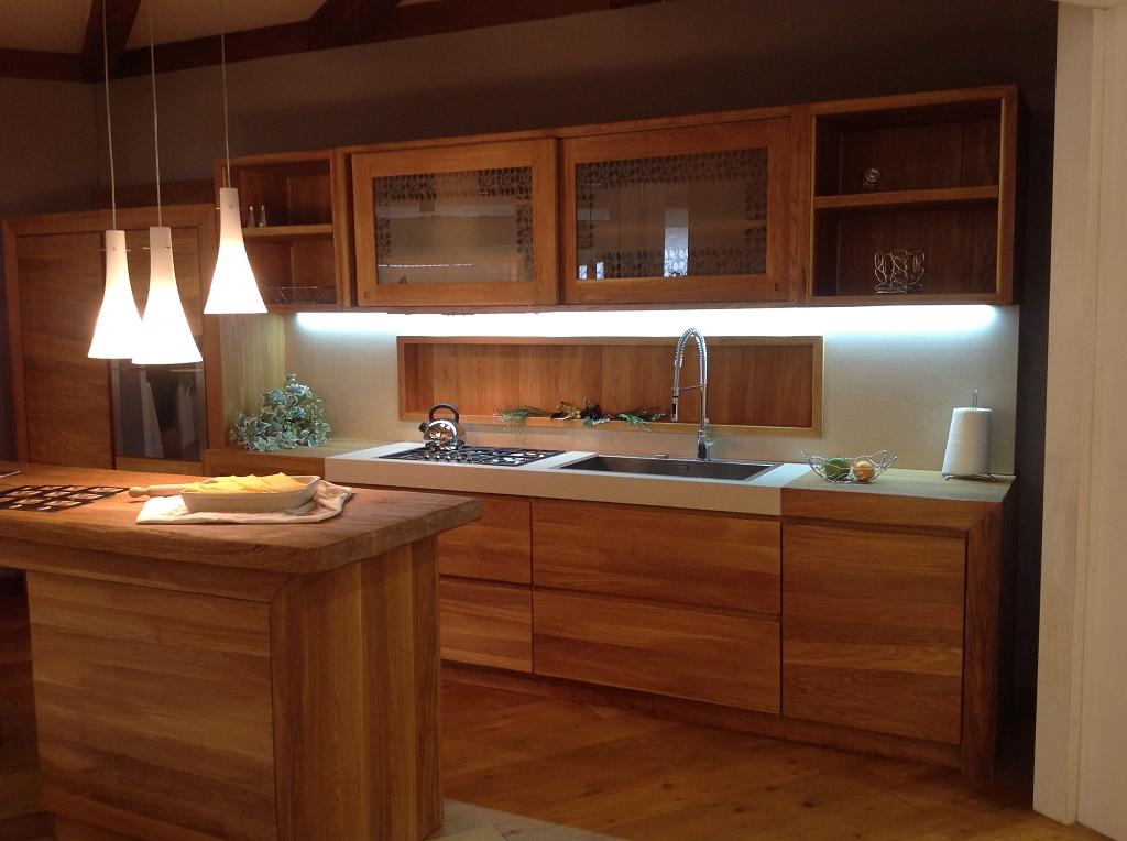 cucina moderna in legno oliato naturale contado roberto