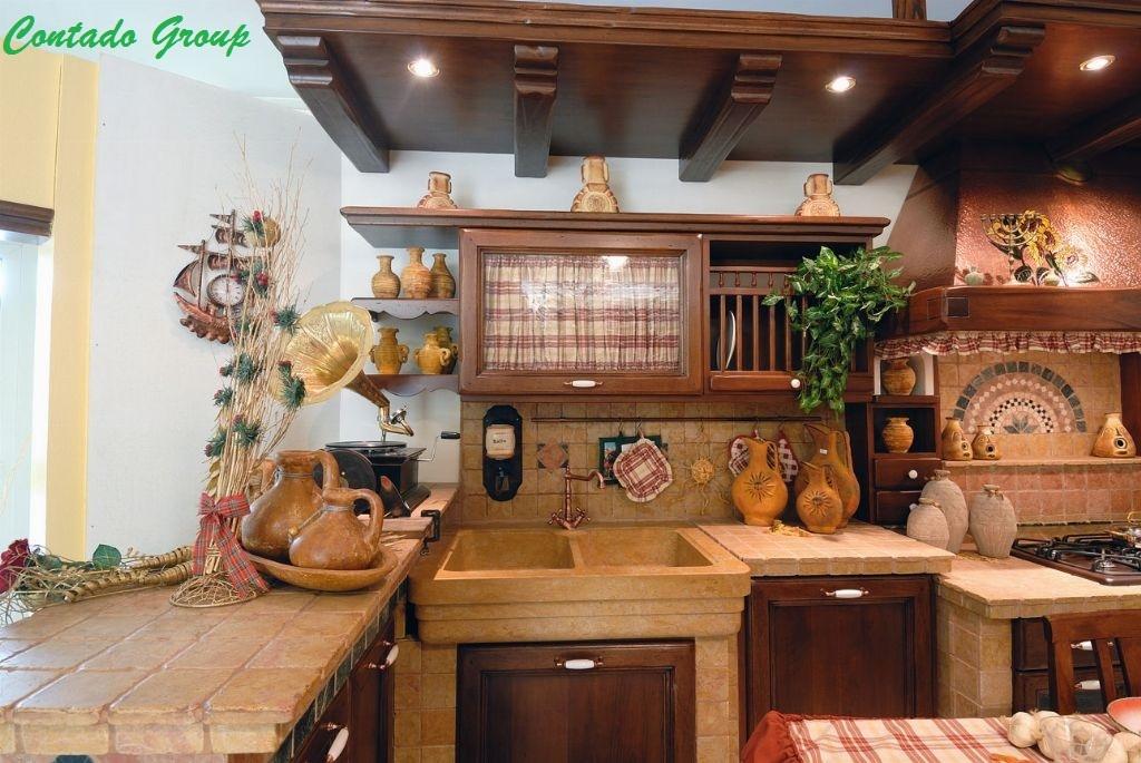 Cucina in muratura vecchio casale contado roberto group for Manerba mobili