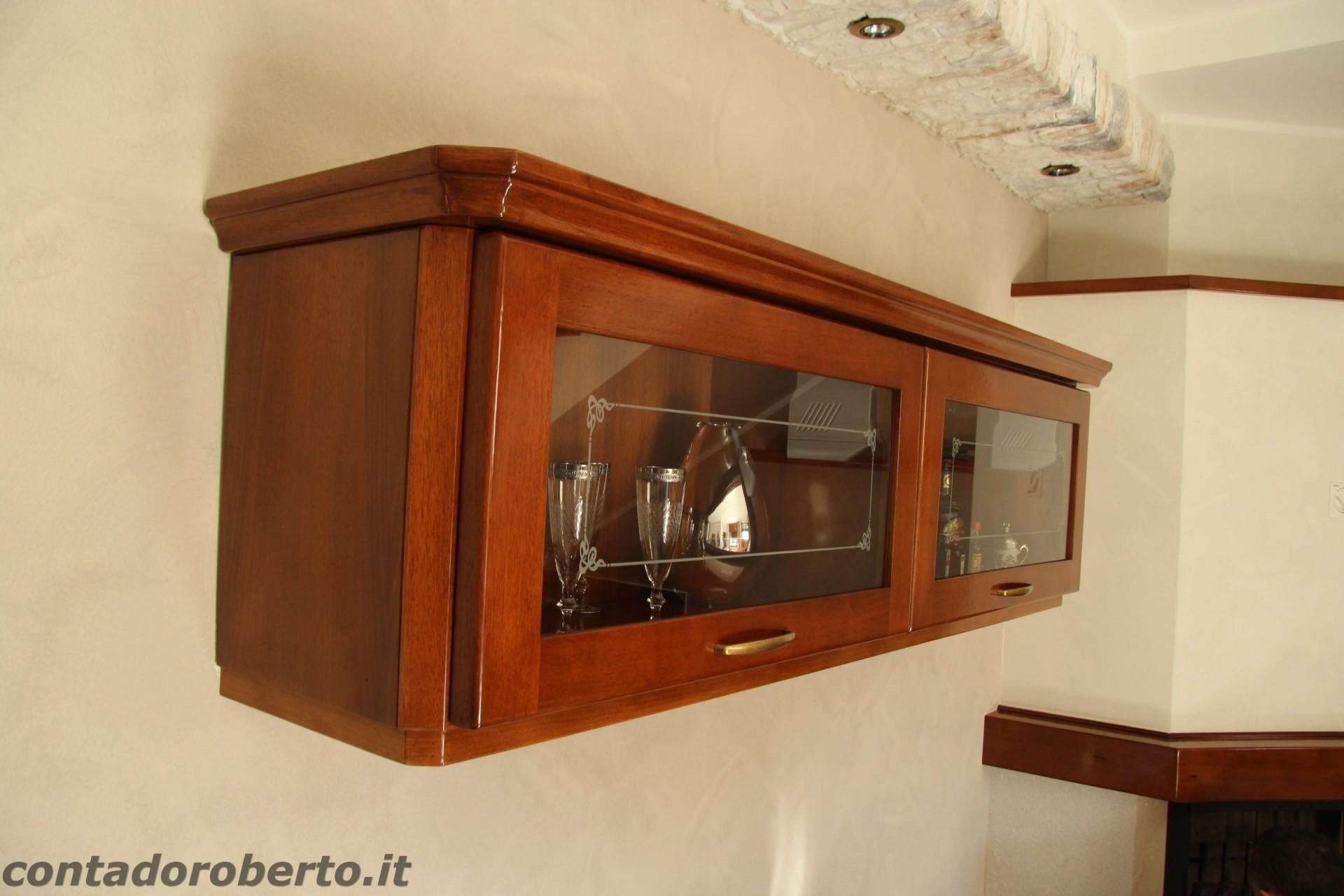 Soggiorno in Legno con Camino  Contado Roberto Group  Cucine e arredamenti su misura in legno