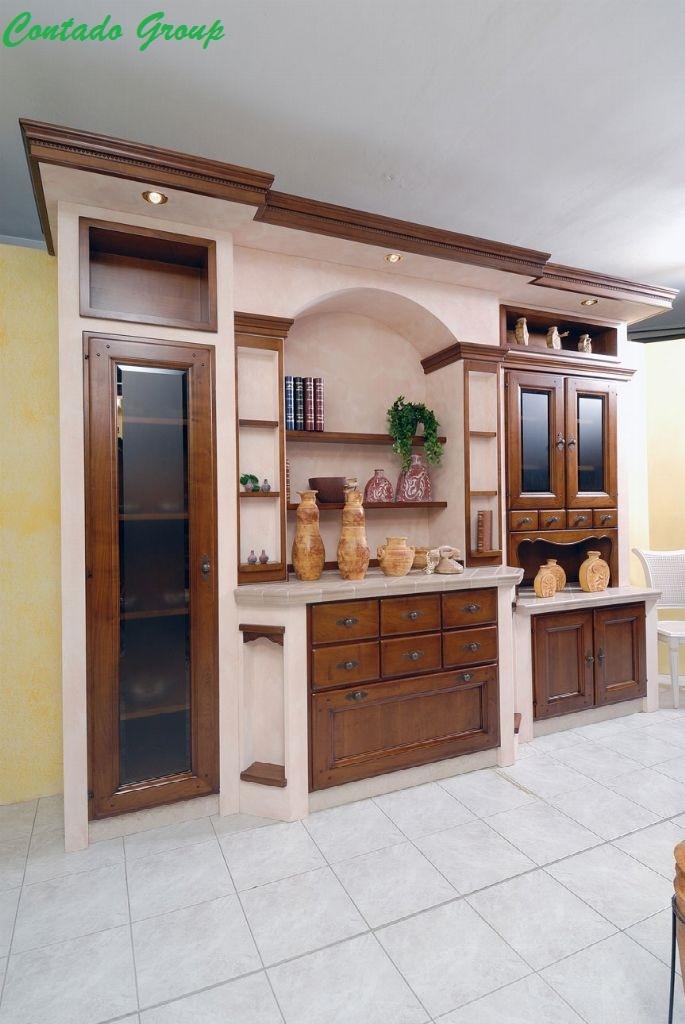 Mobili per soggiorno in legno design casa creativa e - Mobili soggiorno legno massello ...