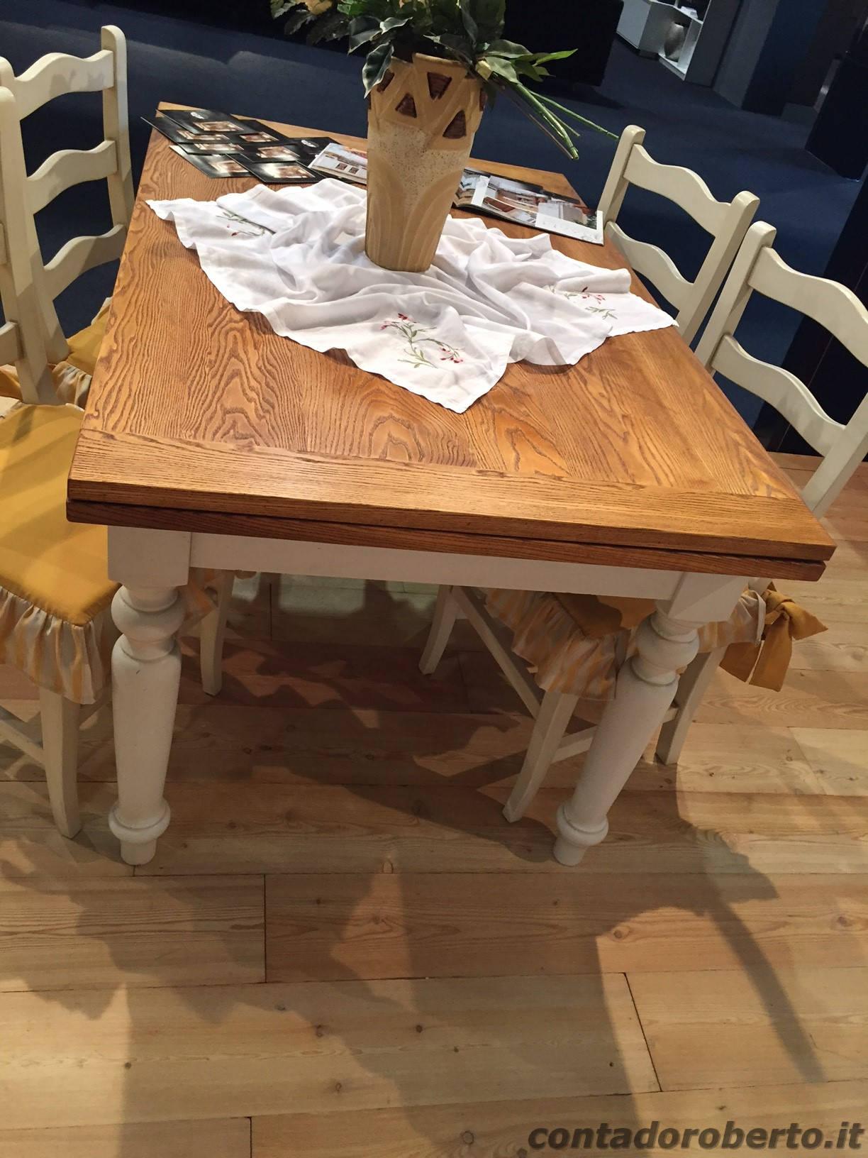 Tavolo in legno massello allungabile contado roberto for Tavolo legno massello allungabile