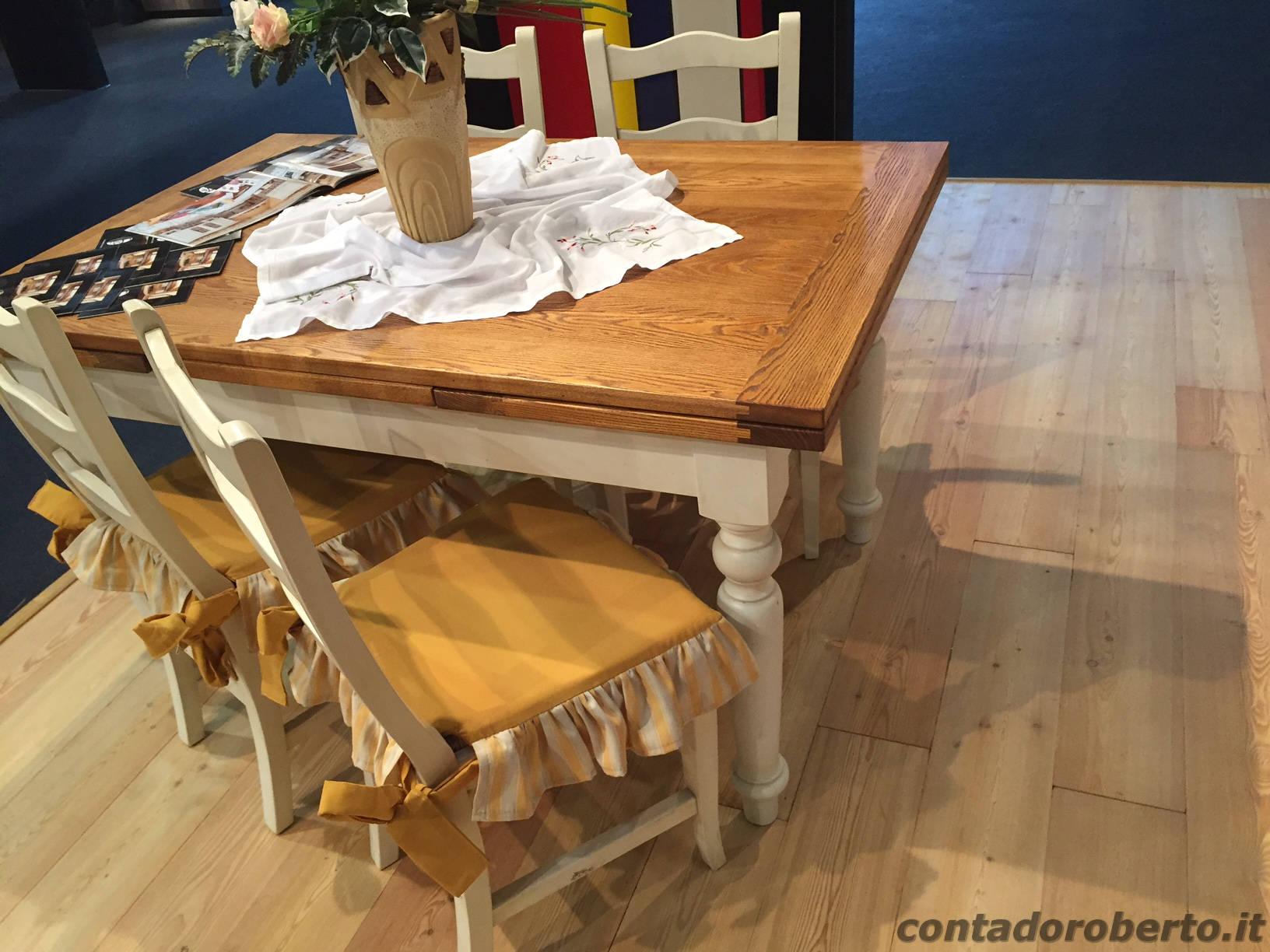Tavolo in legno massello allungabile contado roberto for Tavolo ovale allungabile legno massello