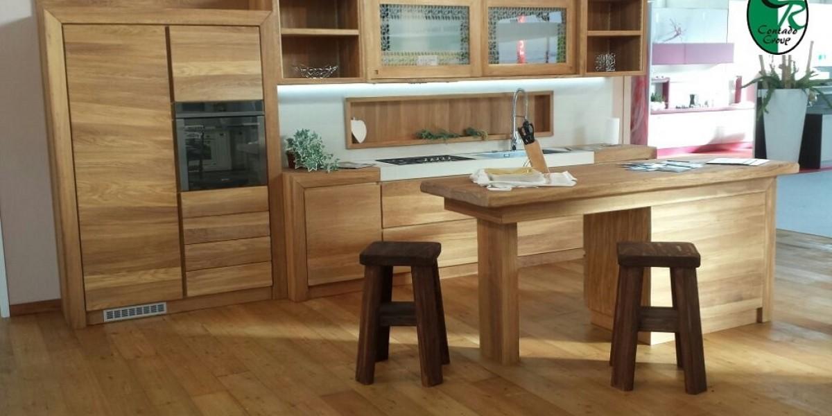 Cucina Moderna in Legno Oliato Naturale | Contado Roberto ...